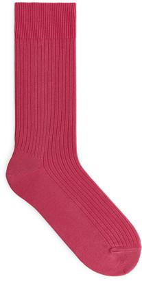 Arket Supima Cotton Rib Socks