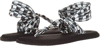 Sanuk Yoga Sling Ella Prints (Oakwood Check Black/Grey) Women's Sandals