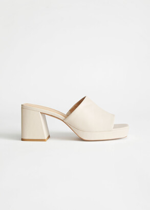 And other stories Leather Heeled Platform Mules
