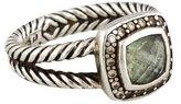 David Yurman Diamond & Prasiolite Petite Albion Cocktail Ring