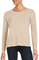 Lord & Taylor Boxy Crewneck Cashmere Sweater