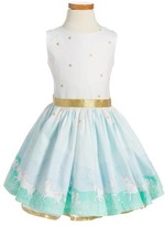 Toddler Girl's Fiveloaves Twofish Unicorn Magic Party Dress