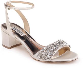Badgley Mischka Ivanna Satin Block-Heel Sandals