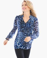 Chico's Mosaic Bi-Color Tunic