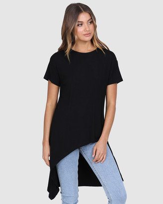 Madison The Label - Women's Black T-Shirts & Singlets - Eryn Top - Size One Size, XS at The Iconic