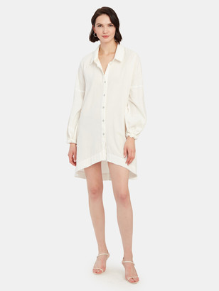 Free People Whistler Oversized Button Down Dress
