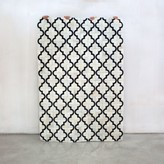 Graham and Green Trellis White Cowhide Rug