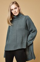 Lucca Couture Tracy Turtleneck High Low Sweater