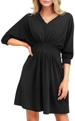 Belle & Bloom Morning Light Black Mini Dress