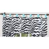 JoJo Designs Turquoise Funky Zebra Window Valance by Sweet