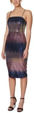 Laundry by Shelli Segal Ombre Sequin Midi Dress