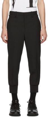 Neil Barrett Black Rib Cuff Tailored Trousers