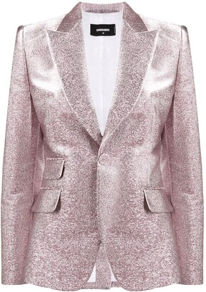 DSQUARED2 Glitter Single Breasted Blazer