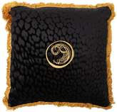 Roberto Cavalli Large Sigillo Velvet Accent Pillow