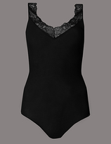 Autograph Silk & Modal Thermal Lace Body