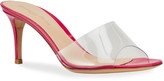 Gianvito Rossi Clear PVC Stiletto Slide Sandals
