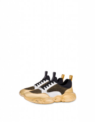 Moschino Teddy Shoes With Gold Sole Man Gold Size 39 It - (6 Us)