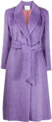 Blumarine Textured Belted Coat