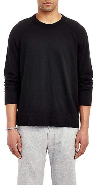 James Perse Men's Raglan Sleeve Long Sleeve Pullover - Black