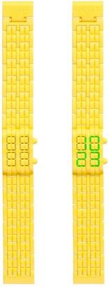 Too Late Too Latetl1514Montre MixteQuartz DigitalCadran Yellow Yellow polycarbonate bracelet