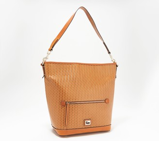 Dooney & Bourke Camden Leather Woven Embossed Small Hobo