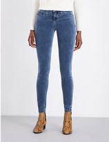 Current/Elliott The Ankle Skinny velvet mid-rise jeans