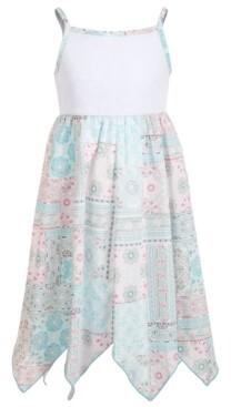 Blueberi Boulevard Little Girls Lace Handkerchief-Hem Dress