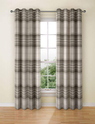Marks and Spencer Cosy Checked Eyelet Curtains