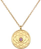 Satya Amethyst & Gold Crown Chakra Pendant Necklace