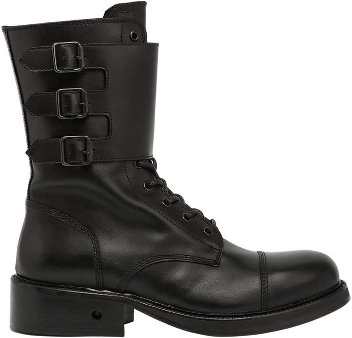 Bikkembergs Squadron Buckled Leather Boots