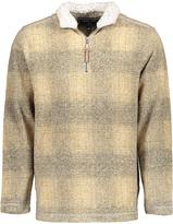 True Grit Oatmeal Plaid Half-Zip Pullover