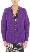 Isabel Marant Favian Purple Wool Cardigan