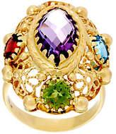 Arte d'Oro As Is Arte d' Oro 6.00 cttw Multi-gemstone Oval Ring 18K Gold