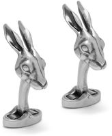 Mulberry Rabbit Cufflinks Antique Silver Metal