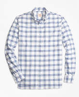 Brooks Brothers Plaid Oxford Sport Shirt