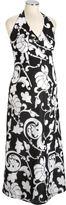 Maternity Linen-Blend Halter Dresses