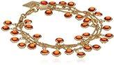 """Anne Klein Beacon"""" Gold-Tone Red Three Row Shaky Bracelet"""