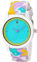 Sprout Women's ST/5528TQCO Turquoise Dial Multicolor Organic Cotton Strap Watch