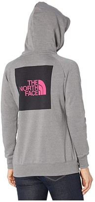 The North Face Pink Ribbon Pullover Hoodie (Mid Grey/Raspberry Rose) Women's Clothing