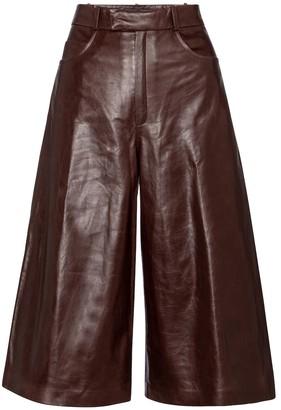 ZEYNEP ARCAY High-rise leather culottes