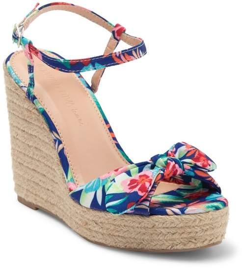 97ef28f46de Wild Diva Lounge Ayla Bow Toe Espadrille Wedge Sandal