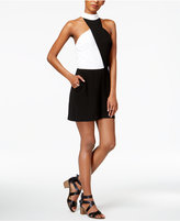 Bar III Colorblocked Mock-Neck Romper, Created for Macy's