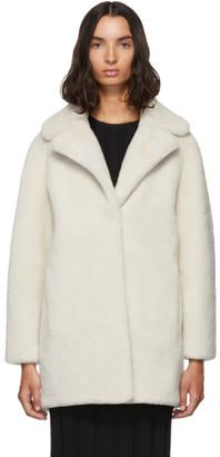 Yves Salomon Meteo Meteo White Merino Short Coat