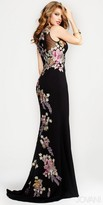 Jovani Embroidered Floral Prom Dress