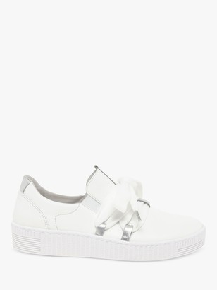 Gabor Waltz Leather Casual Trainers, White