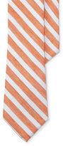 Lauren Green Striped Linen-Silk Tie