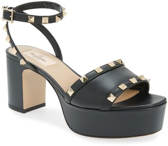 Valentino Rockstud Platform Sandal