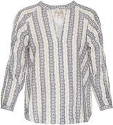 Sea Striped linen long-sleeved top
