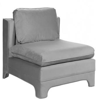 """Worlds Away 29"""" W Velvet Slipper Chair Fabric: Gray"""