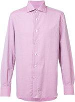 Isaia plain shirt - men - Cotton/Linen/Flax - 15 1/2